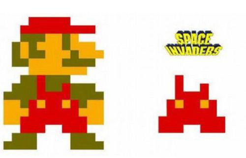 traje mario bros space invaders