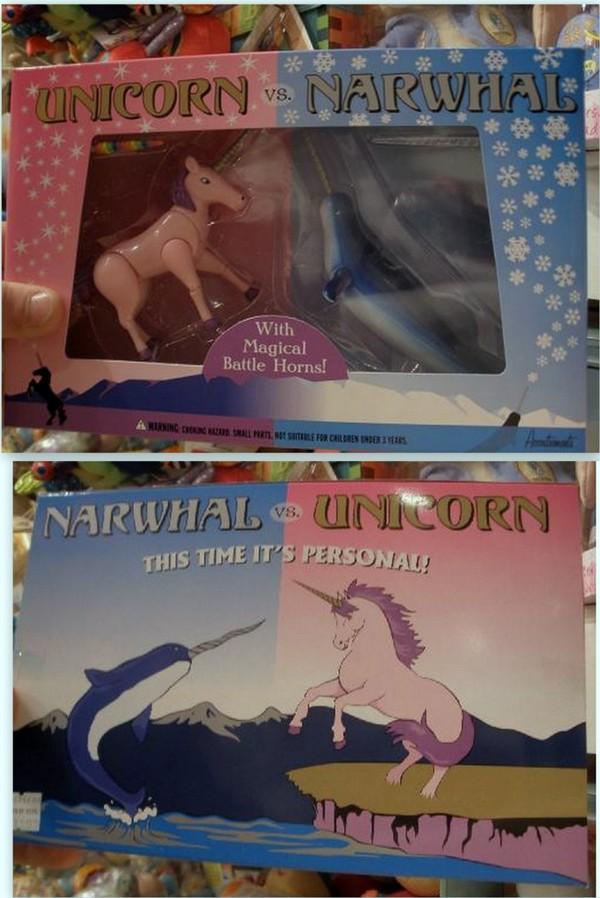 unicornio narval lucha fantasia