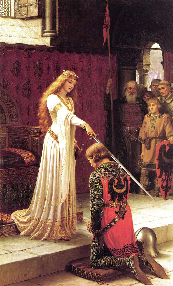 Image result for accolade edmund blair leighton