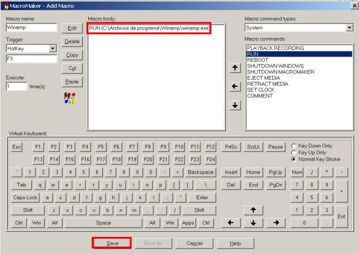 asignar teclas teclado programas funciones