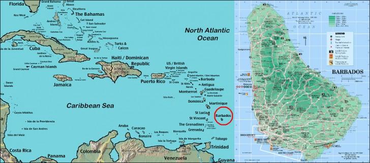 barbados mapa islas