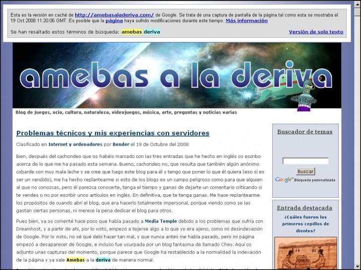 cache amebas pagina