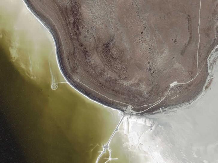 espiral spiral jetty land art earthwork