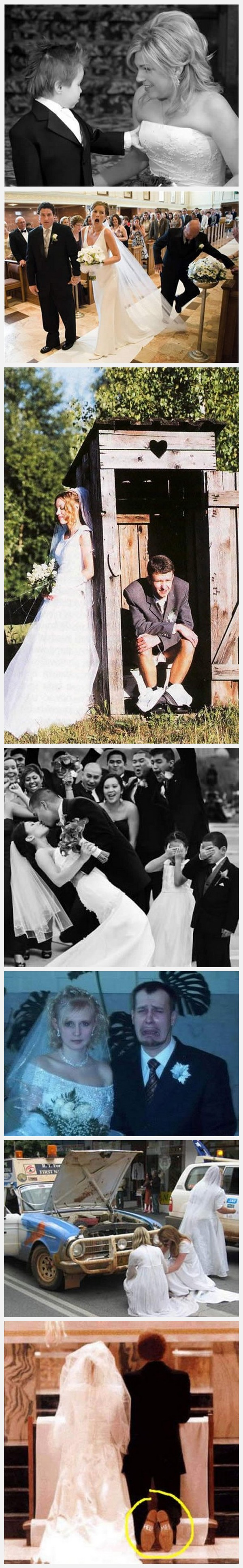 fotografias graciosas risa bodas recien casados humor