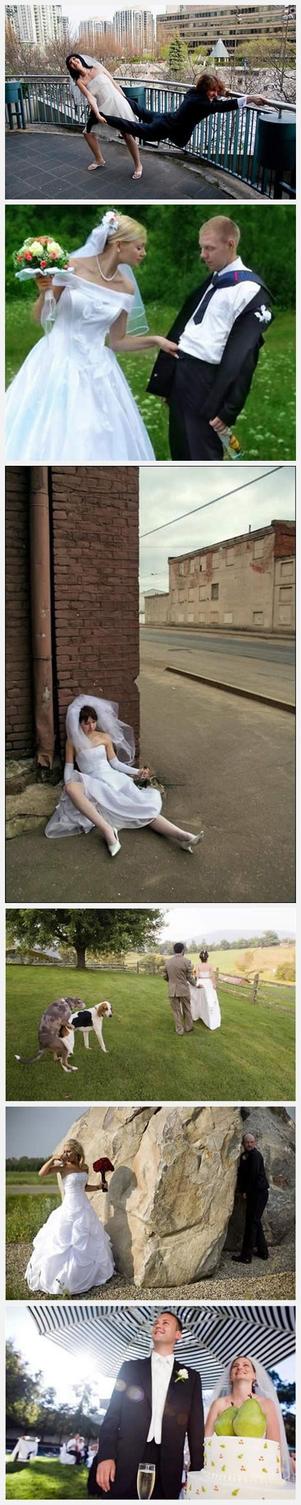 fotos graciosas risa bodas recien casados humor