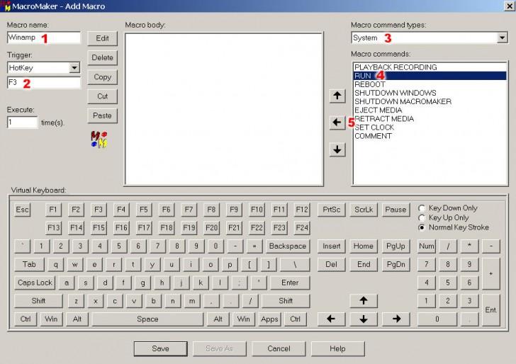 macros atajos teclado CTRL + C V B X Z