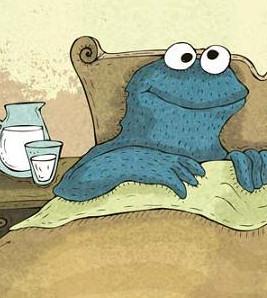 monstruo cama triki galletas