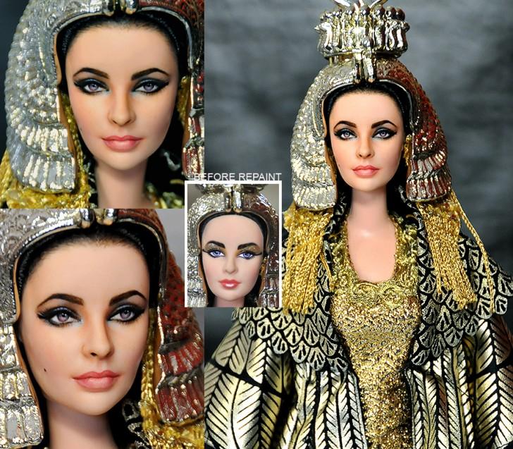 muneca elizabeth taylor cleopatra