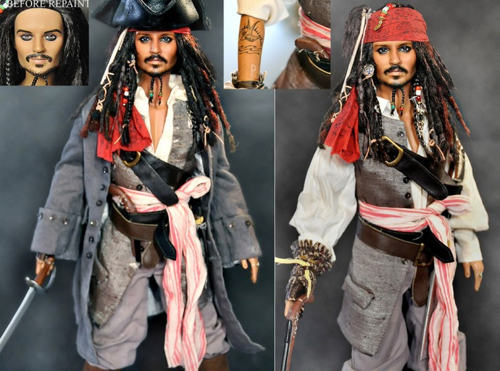 muneco Johnny Depp Jack Sparrow