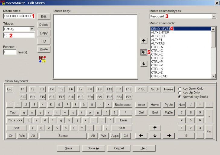 programa abrir ficheros pulsando boton macros