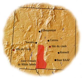 roswell ovnis mapa albuquerque