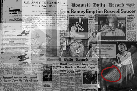 roswell ovnis newspapers ufos