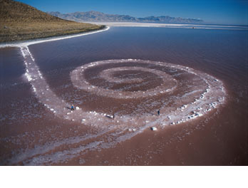 spiral espiral jetty land art earthwork