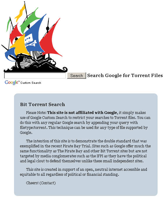 the pirate google