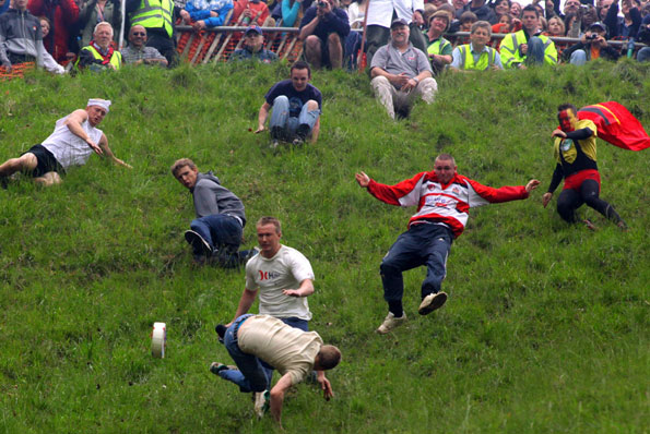 Cheese Rolling Race cooper hill brockworth