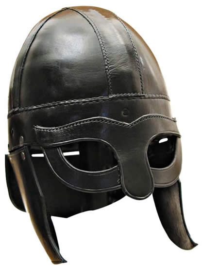 vikingo casco real piel