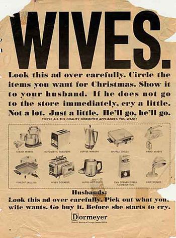 anuncio publicidad sexista machista regalos esposas