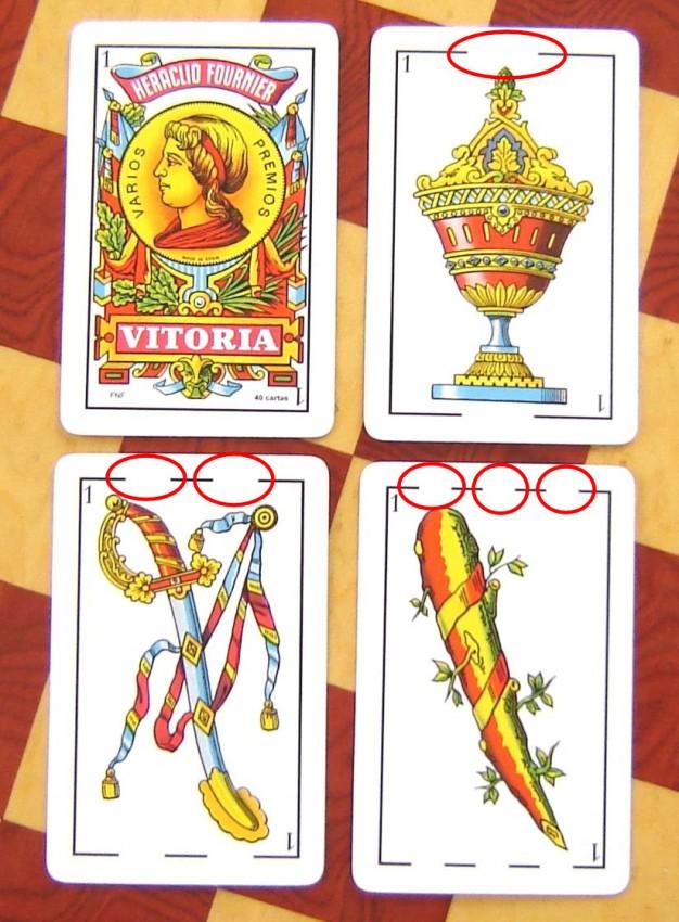 baraja espanola cartas pinta linea senal