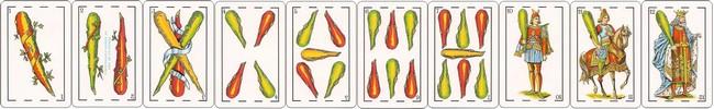 cartas baraja espanola palo bastos
