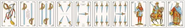 cartas baraja espanola palo espadas