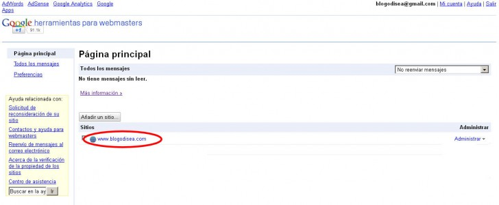 google webmasters sitemaps dominios