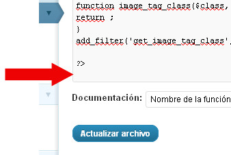 problema error feed salto linea functions php