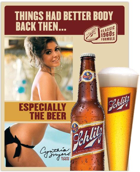 publicidad anuncios mujer objeto machistas cerveza schlitz
