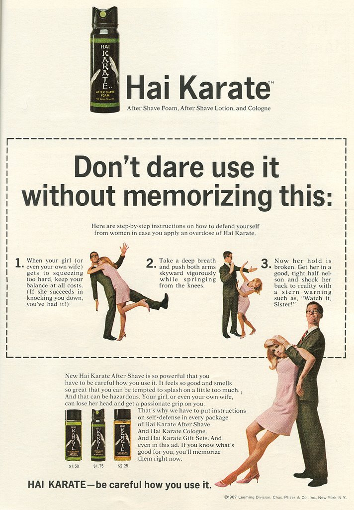 publicidad anuncios sexistas machistas afeitado hai karate