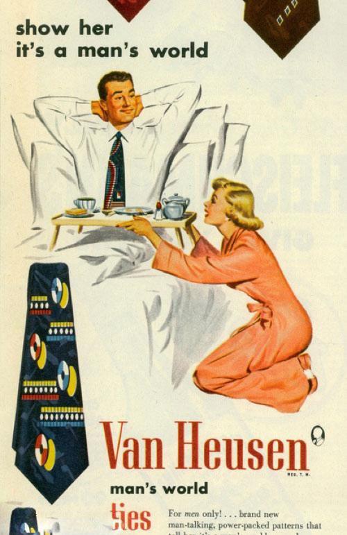 publicidad anuncios sexistas machistas corbatas van heusen