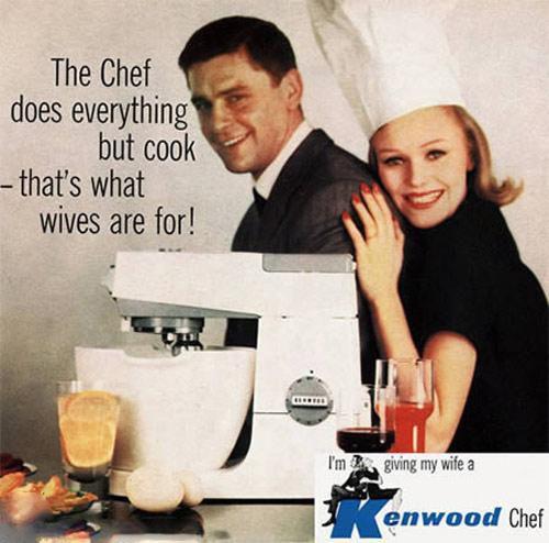 publicidad anuncios sexistas machistas kenwood chef