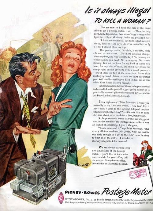 publicidad anuncios sexistas machistas medidor correos pitney bowes