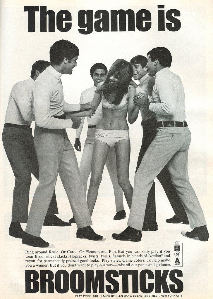 publicidad anuncios sexistas machistas pantalones broomsticks