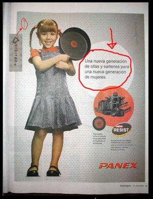 publicidad anuncios sexistas machistas sartenes panex