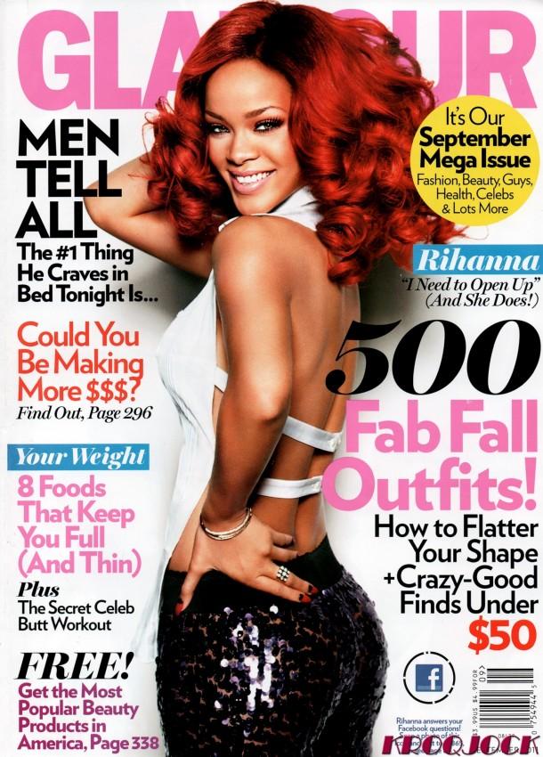 rihanna glamour magazine septiembre 2011 07