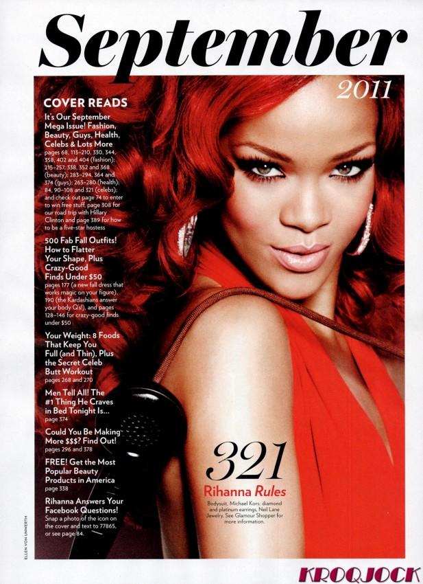 rihanna glamour magazine septiembre 2011 08
