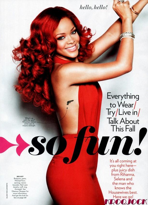 rihanna glamour magazine septiembre 2011 09