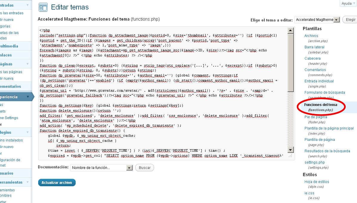 Problema en el feed: Error de lectura XML   Blogodisea
