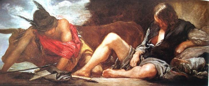 Diego Velazquez Mercurio y Argos mitologia 1659