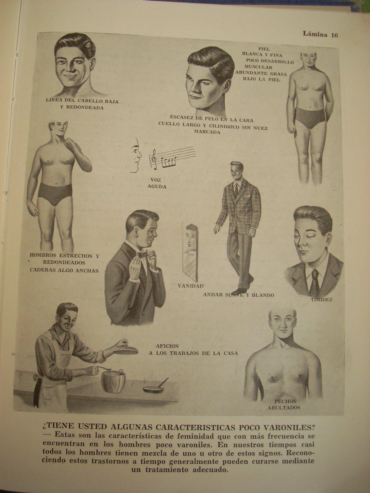 Enfermedades trastornos vida conyugal hombre poco masculino