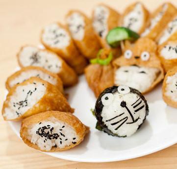 Inarizushi sushi tofu fried