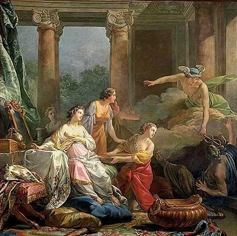 Mercurio Herse Aglauros Jean-Baptiste Marie Pierre