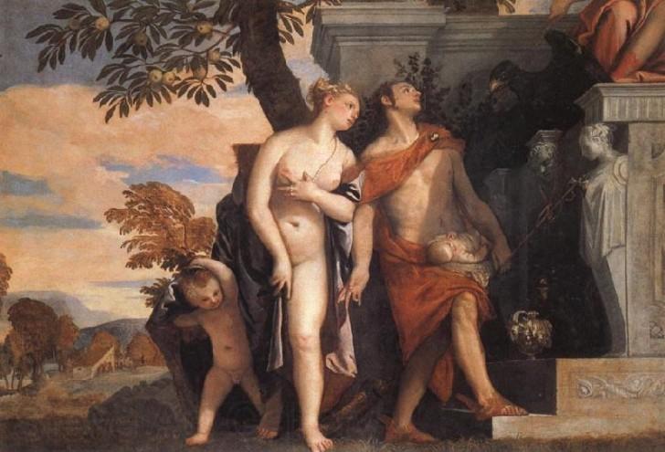 Paolo Veronese Venus mercurio presentan Eros Anteros a Jupiter