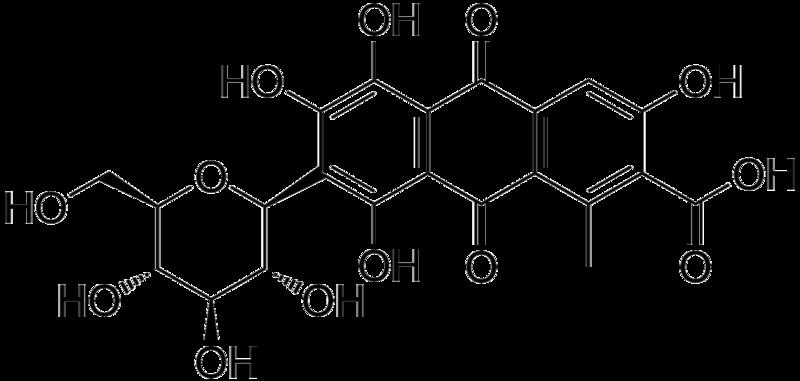 estructura acido carminico carmin e-120