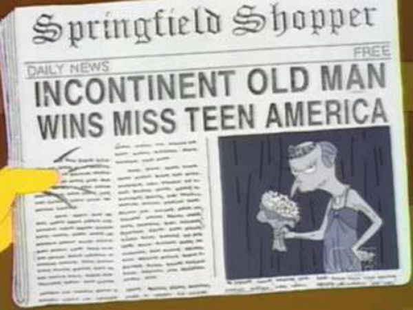titulares noticias periodico simpson 22