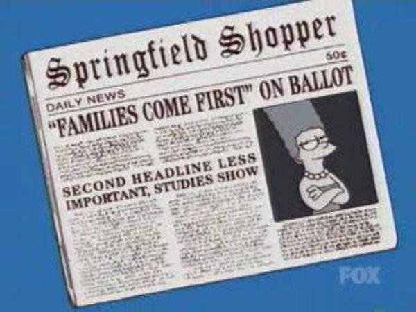 titulares noticias periodico simpson 45