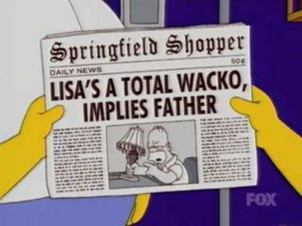 titulares noticias periodico simpson 46