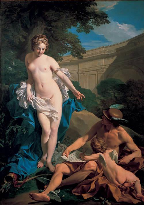 venus mercurio y el amor louis michel van loo 1748