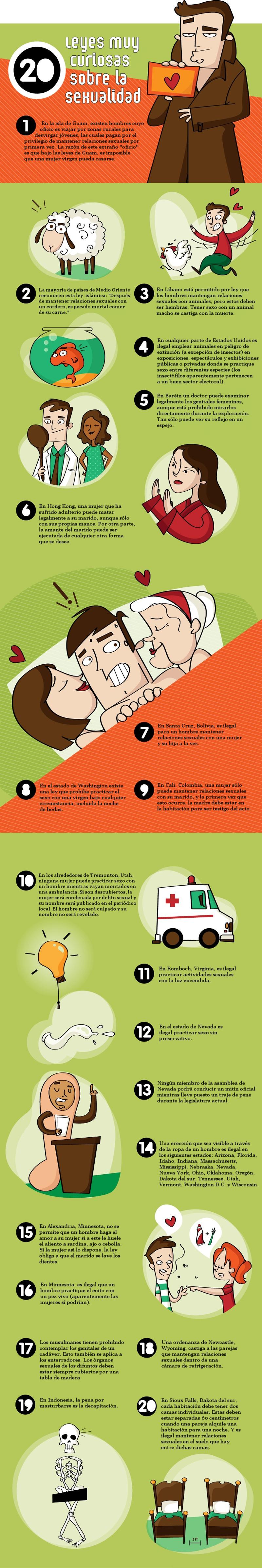 20 leyes curiosas sexualidad sexo