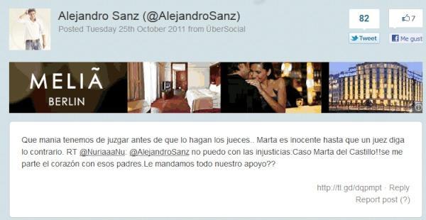 alejandro sanz metedura pata twitter error confusion