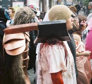 disfraces disfraz traje halloween hacha hombro